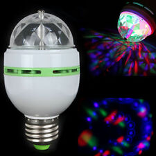 3W LED E27 RGB Effect Rotating Stage Crystal Ball LED Light Lamp for Disco/ DJ