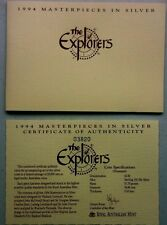 1994  MASTERPIECES IN SILVER ,  THE  EXPLORERS .PART 2