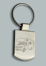 Engraved MOTORHOME campervan Design keyring BOXED Personalised Free - Key ring