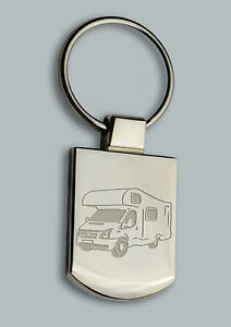 Engraved MOTORHOME campervan Design keyring BOXED Personalised Free - Key ring