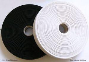 25 Meter Gummiband 10,15,20,25,30,40,45,50 mm breit weiß,schwarz Neu