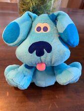 """Vintage Blues Clues 2001 Blue 8"""" Plush Puppet Fisher Price Viacom Rare"""