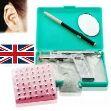 Ear Body Pierce Piercing Gun Tools Kit Set with 100 Stainless Steel Metal Studs