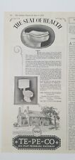 1928 Tepeco all clay bathroom Plumbing fixtures toilet seat of Health ad
