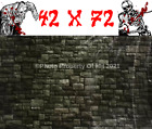 6FT HALLOWEEN WALL MURAL ROCK DUNGEON BRICK WALL SCENE SETTER SCARY BACKDROP