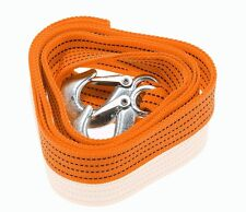 Zone Tech 3 Tons Car Tow Cable Towing Strap Rope with Hooks Heavy Duty 10 Ft