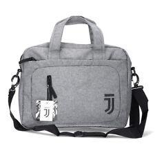 "Juventus Borsa Porta Notebook Pc 14"" Grigia Logo Nero 7,5 L Collezione Travel"