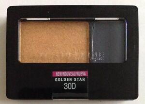 Maybelline Duo Eyeshadow 30D Golden Star Gold Sunflower Blackish Blue Slate