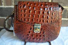 NWT Brahmin Lizzie Melbourne Crossbody bag Pecan brown