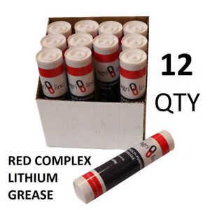 Grease Gun Cartridges, EP2 Grease Cartridge 400g/14oz x 12 Box Qty, Red Grease