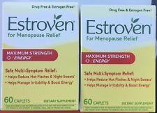 New! LOT of 2 ESTROVEN Maximum Strength + Energy 60 Caplets Menopause Relief