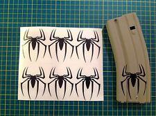 AR Magazine SPIDER Sticker 6 Pack, Spiderman, AR 15, AK, BLACK!
