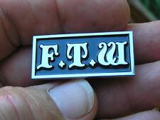 FTW LAPEL PIN  Badge FOREVER TWO WHEELS *HIGH QUALITY* Biker HARLEY-DAVIDSON