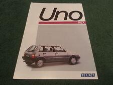 1987 Fiat UNO 70 SX - FRENCH FOLDER BROCHURE