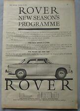 1961 Rover Original advert No.2