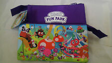 Official Moshi Monsters Fun Park Pencil Case 3 Zipped Pockets Compartments New