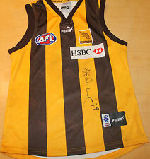 HAWTHORN - SHANE CRAWFORD HAND SIGNED MATCH WORN JERSEY + C.O.A & PHOTO PROOF