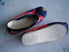 Vintage Asian Shoes Slippers Silk Flats Look
