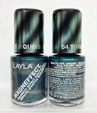 LAYLA- MAGNEFFECT Magnetic Effect 3D Nailpolish 04 TURQUOISE WAVE - FROM ITALY