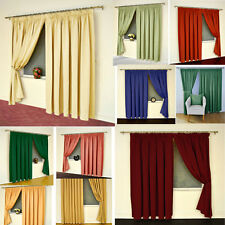 Unlined Satin Pencil Pleat Curtain 15 NEW Colours - NOW £5, £10, £15 A PAIR