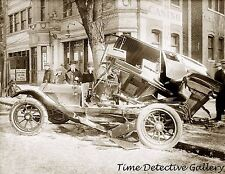 Antique Car Wreck, Washington, D.C. 1916 - Historic Photo Print