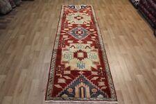 Old Hand Made Persian Heriz long Runner rug very hard wearing 290 x 90 cm