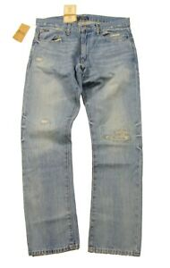 Polo Ralph Lauren Men's Newburgh Blue Rope Dyed Varick Slim Straight Jeans