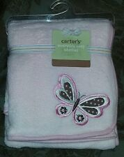 NEW Carter's Everyday Easy Baby Blanket -- Butterfly -- Pink -- Girl
