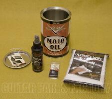 Retro Fender Guitar/Bass Custom Shop Mojo Oil Can & Goodies Polish Picks & Cloth