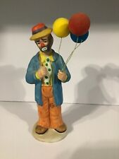 Flambro Collection By Emmett Kelly Jr Hobo Clown Figurine With Balloons