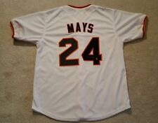 "WILLIE MAYS  AUTOGRAPHED SAN FRANCISCO GIANTS JERSEY ""SAY HEY"" HOLOGRAM"
