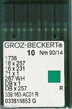 GROZ BECKERT INDUSTRIEL MACHINE À COUDRE AIGUILLES 16x231 DBX1 TAILLE 14/90