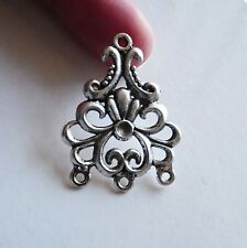 4 Chandelier Earring Findings 3 Hole Large Connectors Necklace Pendant Silver