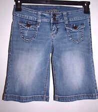 "Urban Heritage Size 1 (27"") Womens Ultra Low Rise Jean Shorts"