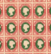 More details for heligoland qv stamps sg.10 1pf (¼d) die ii (1875) mint sheet cat £1,000+ ep192