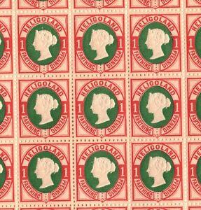 HELIGOLAND QV Stamps SG.10 1pf (¼d) Die II (1875) Mint Sheet Cat £1,000+ EP192