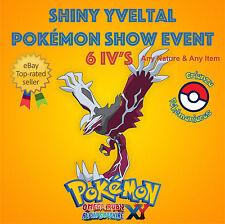 Pokémon ORAS / XY – SHINY YVELTAL POKÉMON SHOW XYZ EVENTO 6IV's – ANY NATURE