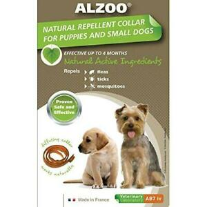 Alzoo Natural Repellent Flea & Tick Collar for Small Dogs and Puppies