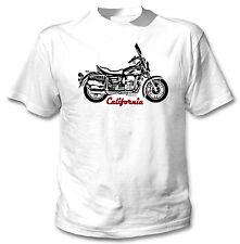 Moto GUZZI California inspirado-nuevo Blanco Camiseta Algodón