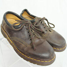 Dr. Doc Martens Made in England Brown Leather Lace-Up Shoes Men Sz UK 7 US 8 EUC