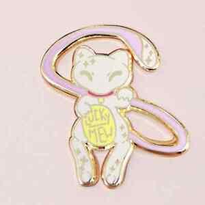 Lucky Mew Hard Enamel Pin, Maneki Neko, Cat lapel pin, Pokemon badge