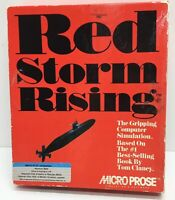 """Vintage Computer Game in Box Red-Storm-Rising-MicroProse-IBM-PC 5 1/4"""""""