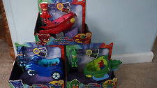Disney Junior PJ MASKS Figurines Gekko Catboy Owlette Mobile Vehicles 3 SET Toys