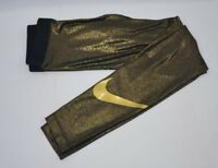 Nike Pro Dri-Fit Training Tights Gold Women's Size S-XL New with Tags AQ4412 013