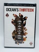 Ocean's Thirteen DVD George Clooney Brad Pitt NEW SEALED Full screen