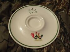 """Vintage Steubenville Candle Plate """"Family Affair Chicken""""-LOOK"""