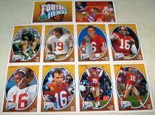 1991 Upper Deck Joe Montana Heroes Complete Insert Set w/ Header SP