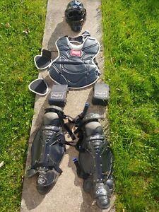 RAWLINGS Catcher Gear glove helmet Shin guards Chest protector Equipment bag Lrg