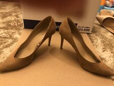 Fiore Tan Suede Effect Shoes Size 6