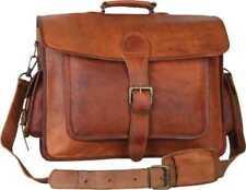 Men's Leather Bags Messenger Bag Shoulder Business Briefcase Laptop Handmade
